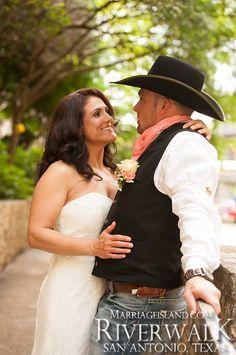 2014 Spring Wedding at www.MarriageIsland.com Cory & Lynette San Antonio Riverwalk
