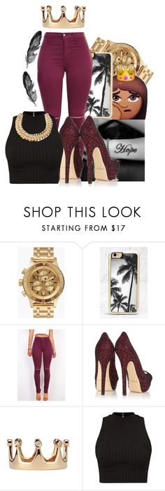 """""""Untitled #89"""" by kaay-kay ❤ liked on Polyvore featuring Nixon, Zero Gravity, Jimmy Choo, Dada Arrigoni and Yves Saint Laurent"""
