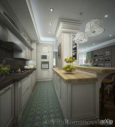визуализация кухни: зd визуализация, интерьер #3dvisualization #interior