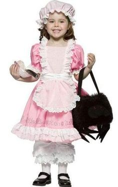 Child's Little Miss Muffet Costume - Candy Apple Costumes - New Costumes 2017 Halloween Costumes, Diy Costumes, Halloween Ideas, Lace Ruffle, Eyelet Lace, Little Miss Muffet Costume, Diy Spider Costume, Nursery Rhyme Characters, Apple Costume