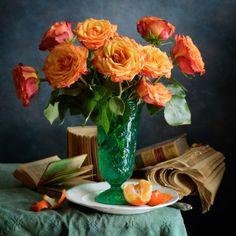 Red Orange Roses by Nikolay Panov on 500px