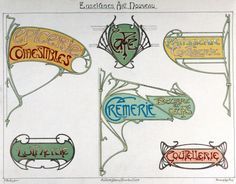 Lettres et Enseignes Art Nouveau par Etienne Mulier (1°série) 1901  -Pl 27