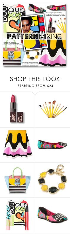 """Stay Bold: Pattern Mixing"" by xiandrina ❤ liked on Polyvore featuring Laura Mercier, Emilio Pucci, Iron Fist, Ballin, 1st & Gorgeous by Carolee, Boutique Moschino and patternmixing"