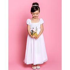 Sheath/Column Square Ankle-length Chiffon Flower Girl Dress (733988) – AUD $ 118.05