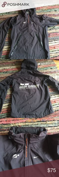 Limited edition Nike Gran Turismo jacket One of a kind Nike Gran Turismo collaboration shell. Hood can be zipped away (see third image). Some wear around the pockets, but overall in excellent condition and barely worn. Nike Jackets & Coats