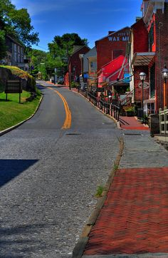 Looking up High Street, Harper's Ferry, West Virginia