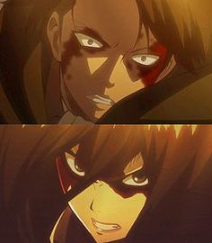 Humanities strongest (Mikasa ackerman, Levi ackerman ) They could probably kill titans with their eyes closed for crying out loud.