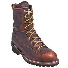 ceb713917a0 Georgia Boots  Men s Brown G7313 Waterproof EH Steel Toe Logger Boots