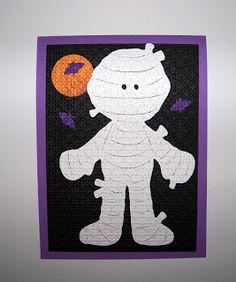 Paper Doll Dress Up Cricut cartridge Halloween cards
