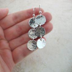 Silver Dangle Earrings -- Sterling Silver Dangles -- Everyday Earrings