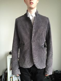 Lentrian - Heavy Cotton Blazer - ($121) - Interesting Style