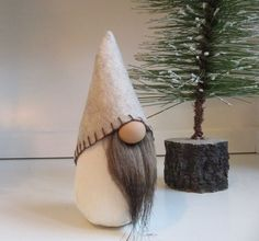 miniature gnome Swedish gnome Tomte Nisse by FlowerValleyGnomes