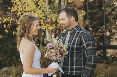 Villani Photos l Bride and Groom First Look with Fall Aspens