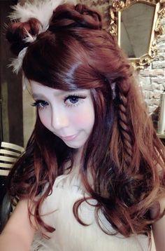 Kawaii Hairstyles, Pretty Hairstyles, Easy Hairstyles, Ulzzang Style, Korean Ulzzang, Natural Hair Styles, Long Hair Styles, Princess Hairstyles, Shoulder Length Hair