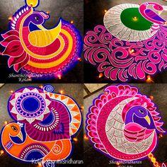 Simple Rangoli Border Designs, Rangoli Designs Flower, Rangoli Borders, Rangoli Patterns, Rangoli Ideas, Rangoli Designs Diwali, Rangoli Designs Images, Diwali Rangoli, Flower Rangoli