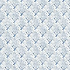 Chesapeake Santiago Blue Scalloped Wallpaper   3120-13654