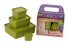 Laptop Lunches Bento-ware Bento Buddies, 4 BPA-free Lunchbox Containers with Leak-proof Lids, Avocado (B650w-avocado) Laptop Lunches Bento-ware http://www.amazon.com/dp/B0052DYLXC/ref=cm_sw_r_pi_dp_BVeEvb1EX9Q72