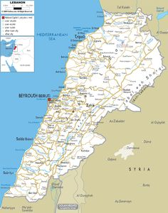Beirut Map Tourist Attractions httptoursmapscombeirutmap