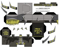 papercraft blackwargreymon - digimon