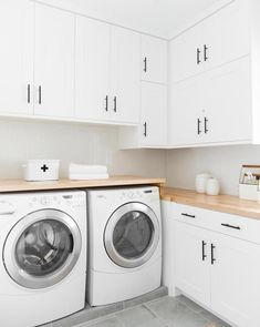 Laundry Room Tile, Modern Laundry Rooms, Laundry Room Layouts, Laundry Room Remodel, Laundry Room Cabinets, Basement Laundry, Farmhouse Laundry Room, Laundry Room Storage, Laundry Room Design