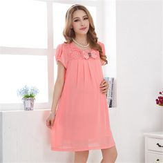 summer dress for pregnant Cute Maternity Dresses, Maternity Wear, Maternity Fashion, Casual Dresses, Fashion Dresses, Summer Dresses, Dresses For Pregnant Women, Clothes For Women, Maternity Patterns
