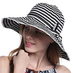 bc0dff56 HH HOFNEN Women's Wide Brim Sun Hat Outdoor Foldable Hats with UV Protection