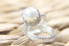 51 Best Pearl Wedding Ring Images On Pinterest Jewelry Rings