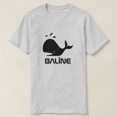 A whale and Kurdish word for whale balîne grey T-Shirt - animal gift ideas animals and pets diy customize Types Of T Shirts, Foreign Words, Personalized T Shirts, Funny Tshirts, Whale, Grey, Casual, Mens Tops, How To Wear