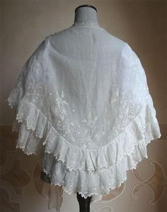 Embroidered muslin, 1847