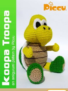 Crochet Toys For Boys How to make a crochet koopatroopa toy . Como hacer un muñeco koopatroopa de crochet. by in Types > Instruction manuals > Crafts, toy, and pattern Crochet Gratis, Crochet Diy, Crochet Dolls, Crochet Mario, Mario Bros, Crochet Hello Kitty, Build A Bear Party, Sewing Stuffed Animals, Crochet Stitches Patterns
