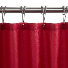 "Polyester Chevron Shower Curtain - Burgundy - 36"" W x 80"" H"