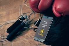 Boxing equipment and iPhone6  #sport #boxing #playground #freetime #iphone…