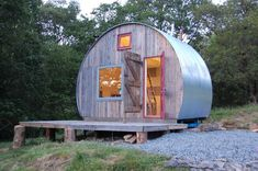 Click To Get An Inside Look At This Wine Barrel Tiny House / The Green Life <3