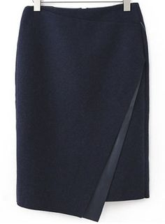 Shop Navy Asymmetrical Bodycon Woolen Skirt online. Sheinside offers Navy Asymmetrical Bodycon Woolen Skirt & more to fit your fashionable needs. Free Shipping Worldwide!