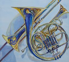 The Glow of Brass, a Watercolor Painting by Jenny Armitage