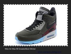 b1db903b36 scarpe eleganti Tarp Verde Grigio Burgundy Prism Blu 684722-200 Nike Air  Max 90 SneakerBoot