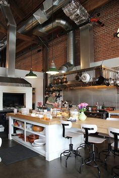 Most popular open kitchen design restaurant interiors ideas Open Kitchen Restaurant, Restaurant Design, Restaurant Interiors, Restaurant Ideas, Cafe Design, Küchen Design, Interior Design, Design Ideas, Small Kitchen Backsplash