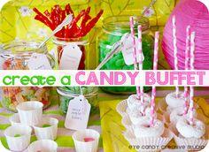 DIY how to create a candy buffet on Eye Candy Creative Studio