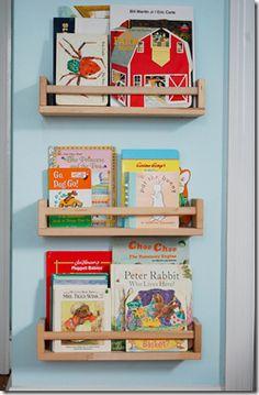 ikea spice racks as book shelves