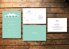 Tent and paper lanterns wedding invitation stationery | Letters & Alchemy