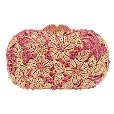 3fdbb10133 US $57.14 48% di SCONTO|Aliexpress.com : Acquista LaiSC di cristallo di  Lusso sacchetto di sera della borsa della Frizione del partito di colore  rosa della ...