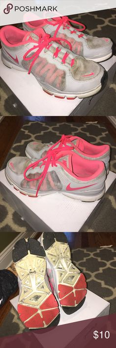 Nike pink and grey Pink and grey nikes Nike Shoes Athletic Shoes
