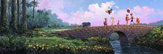 "Disney ""OVER THE STONE BRIDGE"" Size: 12 x 36 | Giclée on Cavas | EDITION 195"