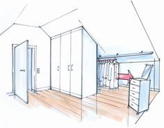 Prodigious Cool Ideas: Attic Living Walk In finished attic access.Old Attic Illustration attic lighting design. Attic Wardrobe, Attic Closet, Attic Playroom, Attic Rooms, Attic Office, Attic Library, Bathroom Built Ins, Attic Bathroom, Remodel Bathroom