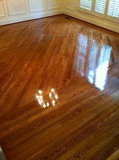 Duraseal Nutmeg Stain Amp Bona Mega Gloss Hardwood Floor