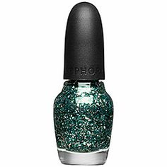 SEPHORA by OPI - Jewelry Top Coats in Light, Glammer A, Action! - clear with chunky & fine gold/silver/teal glitter #sephora