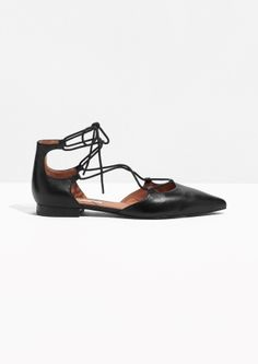 & Other Stories | Lace-Up D'Orsay Flats