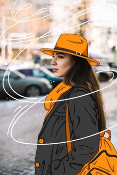 Fashion model with casual outfit Free Vector Artsy Photos, Draw On Photos, Creative Photos, Photography Editing, Creative Photography, Photo Editing, Diy Fashion Photography, Photography Illustration, Portrait Illustration