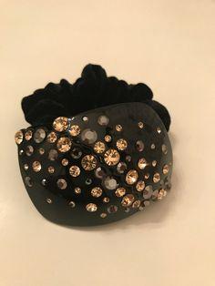 BNWT Black Fake Synthetic Hair Plait Elasticated Headband Dance Up Do Accessory