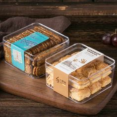 Plastic Box Packaging, Cake Boxes Packaging, Biscuits Packaging, Baking Packaging, Dessert Packaging, Food Packaging Design, Dessert Boxes, Biscuit Cake, Cookie Box